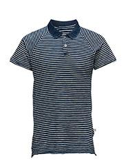 Polo W/Stripes Indigo - TOTAL ECLIPSE