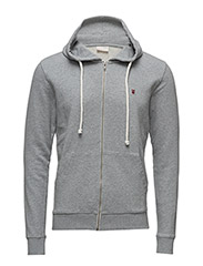 Basic Hood Sweat - GOTS - Grey Melange