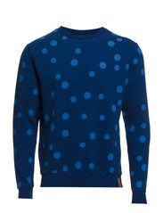 Sweat w/dot print - estate blue