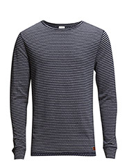 Double Layer Striped Sweat - Total Eclipse