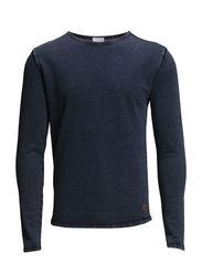 Indigo Dyed Sweatshirt - Indigo