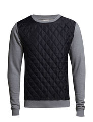 Sweat w/PET Front - Grey Melange