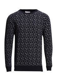 Paisley Printed Sweat - Total Eclipse
