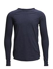 Light Melange Sweatshirt - Total Eclipse