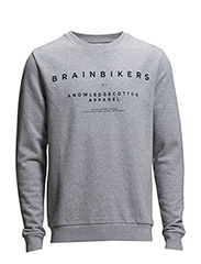 BrainBikers Sweat - GOTS - Grey Melange