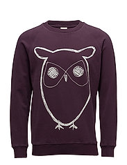 Sweat Shirt With Owl Print - GOTS - PLUM PERFECT