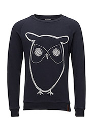 Sweat Shirt With Owl Print - Total Eclipse