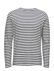 Yarndyed Striped Sweat - GOTS - PEACOAT