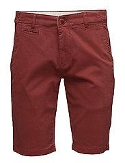 Stretch Chino Shorts - GOTS - MADDER BROWN