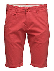 Stretch Chino Shorts - GOTS - HIGH RISK RED