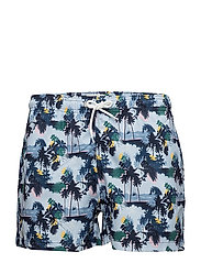 Palm printed swimshorts - GRS - SKYWAY