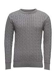 Cable Knit - GOTS - GREY MELANGE