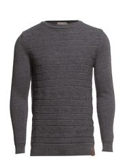 Jacquard Knit - Dark Grey Melange
