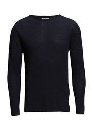 Single Round Neck Knit - Total Eclipse