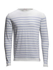 Striped Single Knit - Winter White