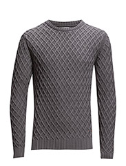 Diamond Knit - Grey Melange