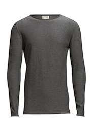 Single Knit Raw Edge - GOTS - Dark Grey Melange
