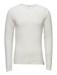 Small Diamond Knit - GOTS - WINTER WHITE