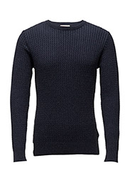Cotton/Cashmere Cable Knit - GOTS - TOTAL ECLIPSE