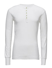 Rib Knit Henley GOTS - BRIGHT WHITE