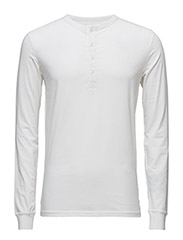 Henley W/Stretch - GOTS - BRIGHT WHITE
