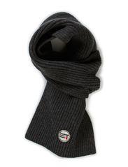 Jacquard Knit Scarf - Grey Melange