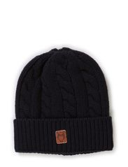 Cable Knit Hat - Total Eclipse