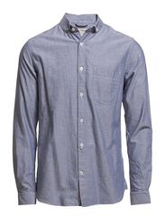 Knowledge Cotton Apparel Oxford Shirt With Peter Pan Collar