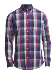 Poplin Checked Shirt - Anemone
