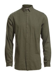 Melange Twill Shirt - Forrest Night