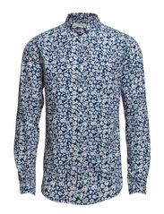 Shirt flower print - estate blue