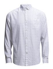 Oxford Shirt w/Dots - Bright white