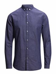 Dot weaved Shirt - Total Eclipse