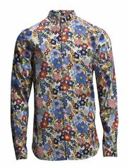 Multi Color Flower Printed Shirt - Winter White