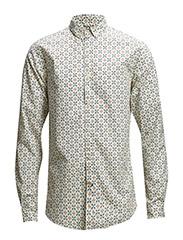 Owl Printed Shirt - Star White