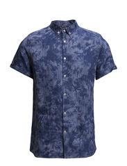 Palm Printed Shirt W/Short sleeve - Deep Sea