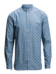 Light Oxford Shirt w/All Ower Owl P - Delft