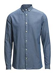 Light Oxford Shirt w/Print - Captains Blue