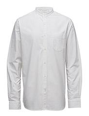 Stand Collar Shirt - GOTS - Bright White