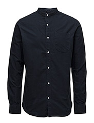 Stand Collar Shirt - GOTS - Total Eclipse