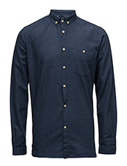 Solid Col. Flannel Shirt - GOTS - ESTATE BLUE