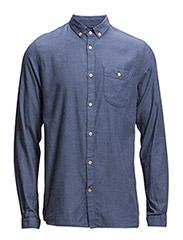 Solid Col. Flanel Shirt - GOTS - Limoges