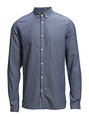 Loose Check Weaved Shirt - GOTS - Estate Blue