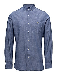 Cotton/Linen Shirt- GOTS - STRONG BLUE