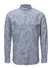 All Over Waste Printed Shirt - PLACID BLUE
