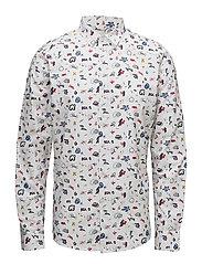 Concept Print Shirt- GOTS - BRIGHT WHITE