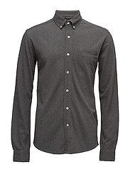 Pique Shirt Long Sleeve - GOTS - DARK GREY MELANGE