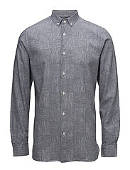 Big checked co/linen shirt - GOTS - TOTAL ECLIPSE