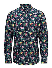 Concept print shirt - poplin - GOTS - GREEN LAKE