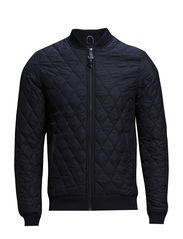 Quilted Bomber Jacket - Total Eclipse
